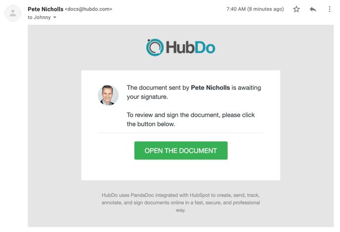 PandaDoc Example Reminder Email